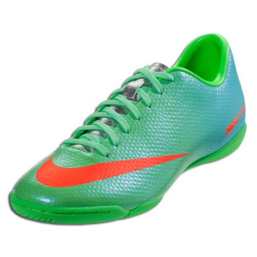 Nike Mercurial Victory IV Ic Fútbol Indoor Cr7 Zapatos Neopreno Lima Metálico