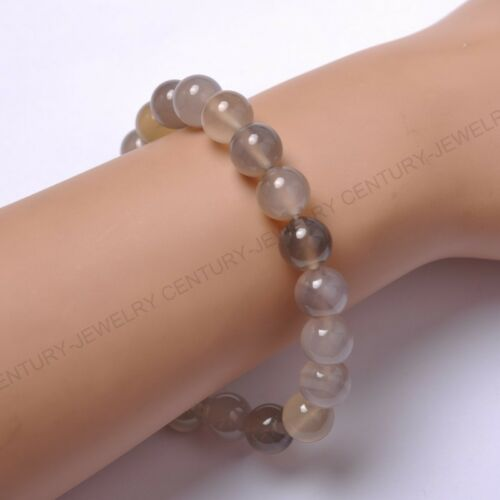 Free Shiping 12 mm Natural Gemstone Round Beads Stretch Bracelets