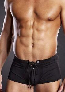 Blue Line Mens Underwear Lace Up Trunk Navy White Black S/M or L ...