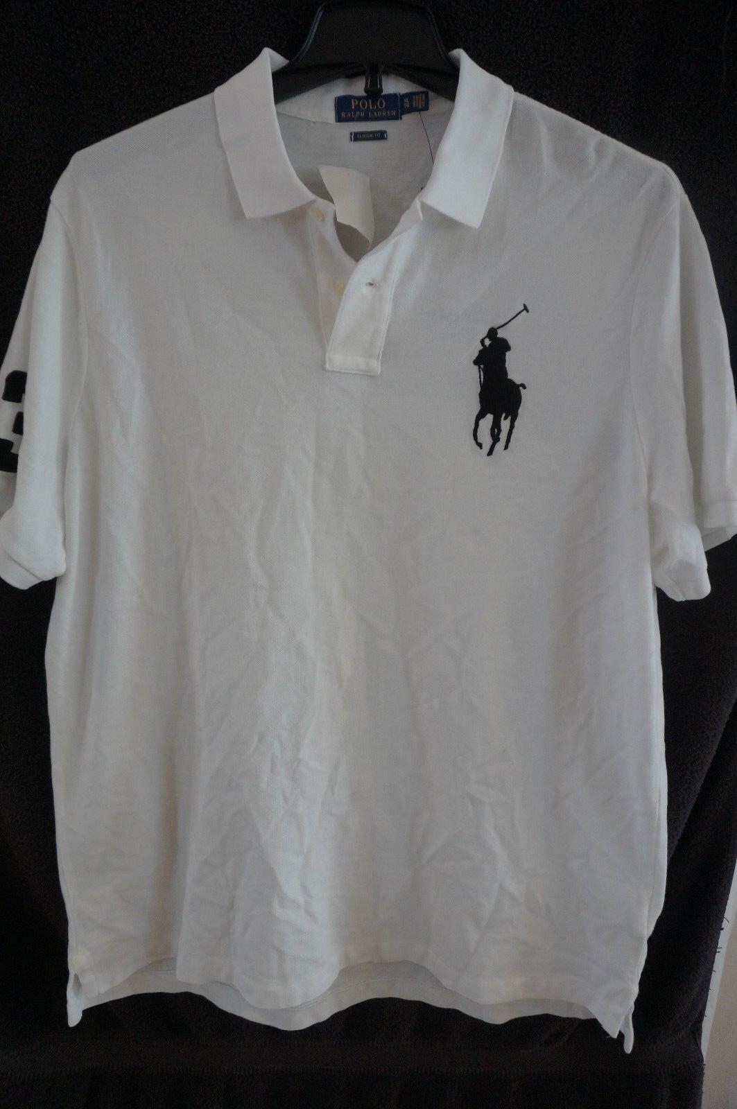 POLO RALPH LAUREN Men's White Polo Shirt Classic Fit Mesh Big Pony XL NWT