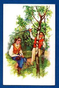 Letonia-Lettland-Romance-Vintage-Tarjeta-Postal-159