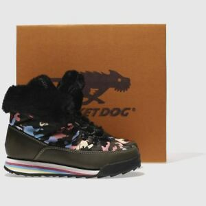 ROCKET ICEE DOG KHAKI ICEE ROCKET CANDY CAMO TRAINER Stiefel SIZE 5     69396a