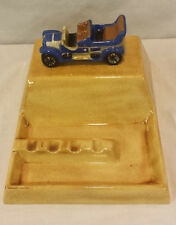 VINTAGE  Car Ashtray / Coin Tray HTF & RARE! Gold & Blue