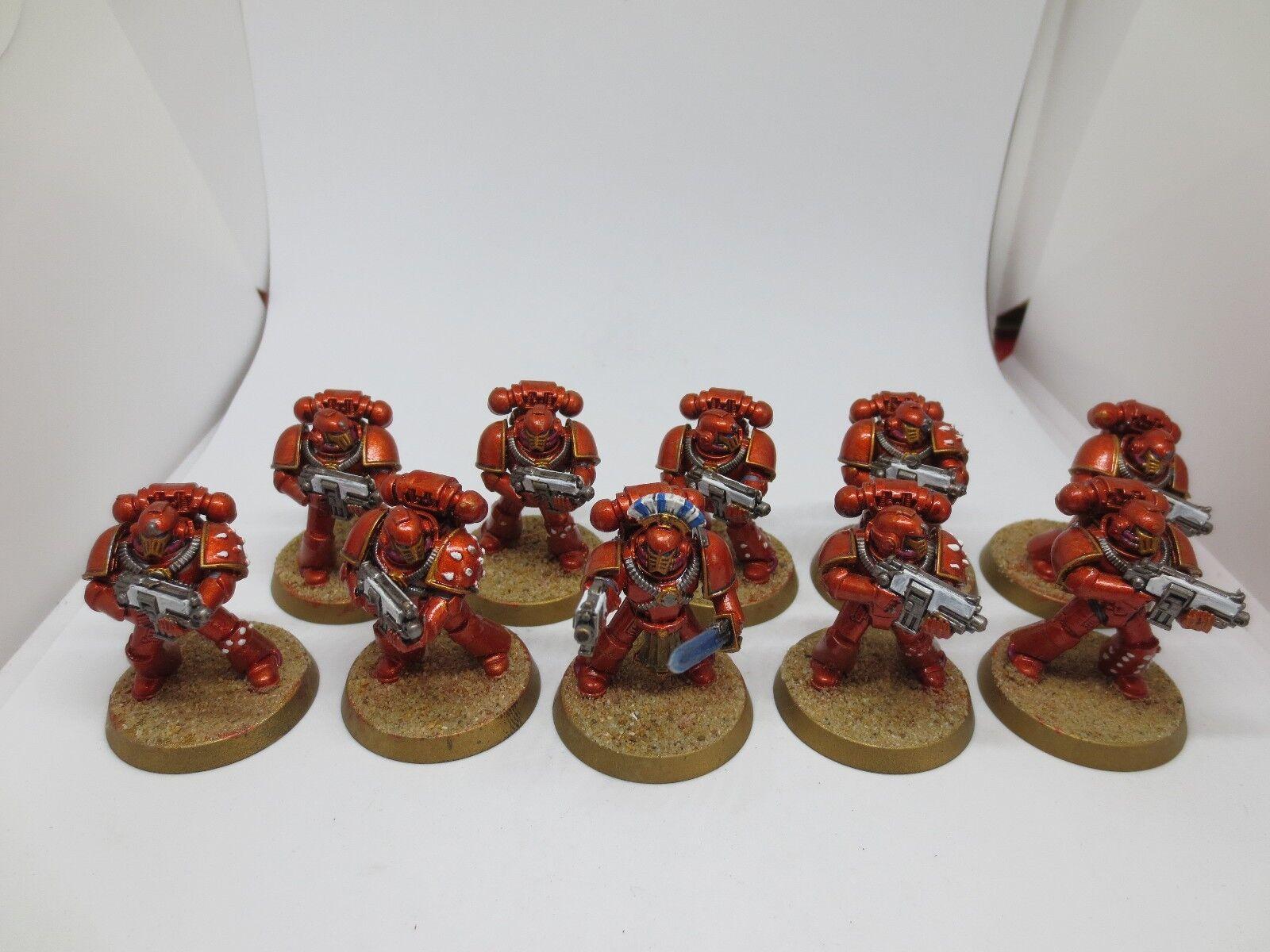 Warhammer 40K  The Horus Heresy Mark IV Space Marines Squad Painted G117