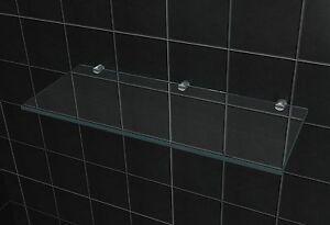 50 x 20 cm bad regal 8 mm glasregal wand anbauregal f r bad dusche duschwand ebay. Black Bedroom Furniture Sets. Home Design Ideas