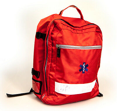 RED Emergency Green Paramedic Rucksack  - First Aid - Mountain Rescue - NEW