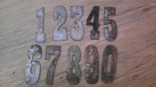 """3/"""" Rusty Metal Vintage Western Style Complete Set of Numbers 0123456789"""
