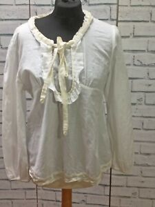 Vintage-Style-Boo-Radley-Bow-Womens-Long-Sleeved-Blouse-Size-12