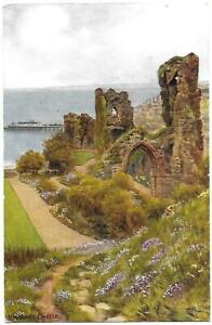 HASTINGS-CASTLE-Artist-A-R-Quinton-J-Salmon-Card-1010-Posted-1956