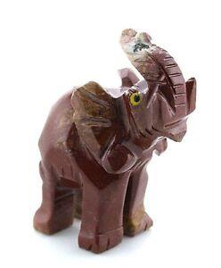 Carved-Natural-Red-Brown-Jasper-Elephant-Carving-Gem-Stone-Gemstone-EBS7884