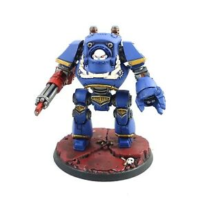 Warhammer 40k Armée Space Marines Ultramarines Contemptor Dreadnought peinte