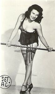 7ad84706822 Original Vintage Semi Nude 1940s-50s Pinup RP- Bullet Bra Falls Off ...
