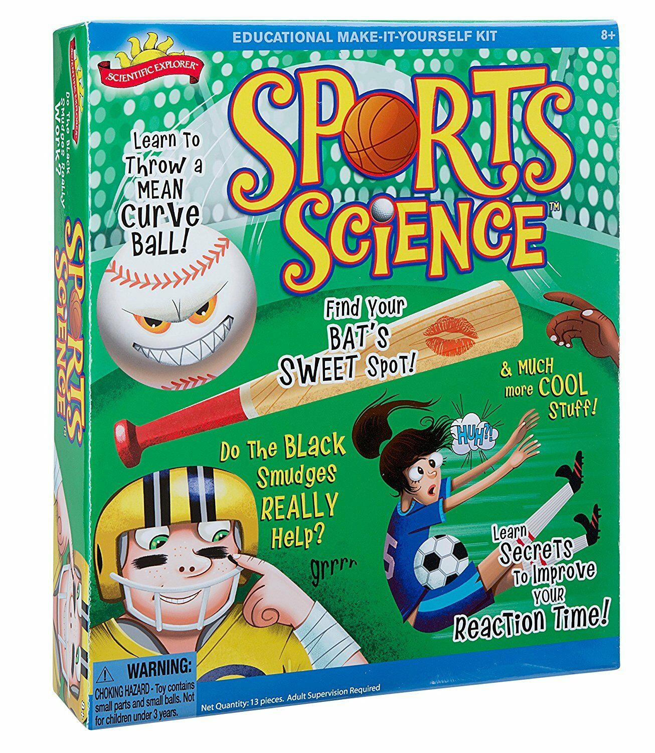 Scientific Explorer Sports Science Project Kit Lab Ages 8+ Nuovo Toy Gift Learn