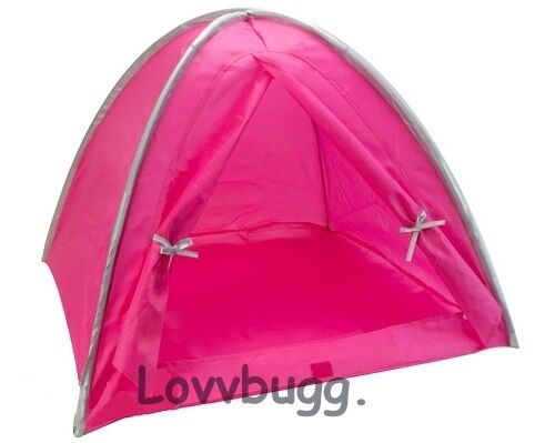 """Pink Tent for 14/"""" 18/"""" American Girl Doll Camping Accessory  Lovv the Lovvbugg!"""