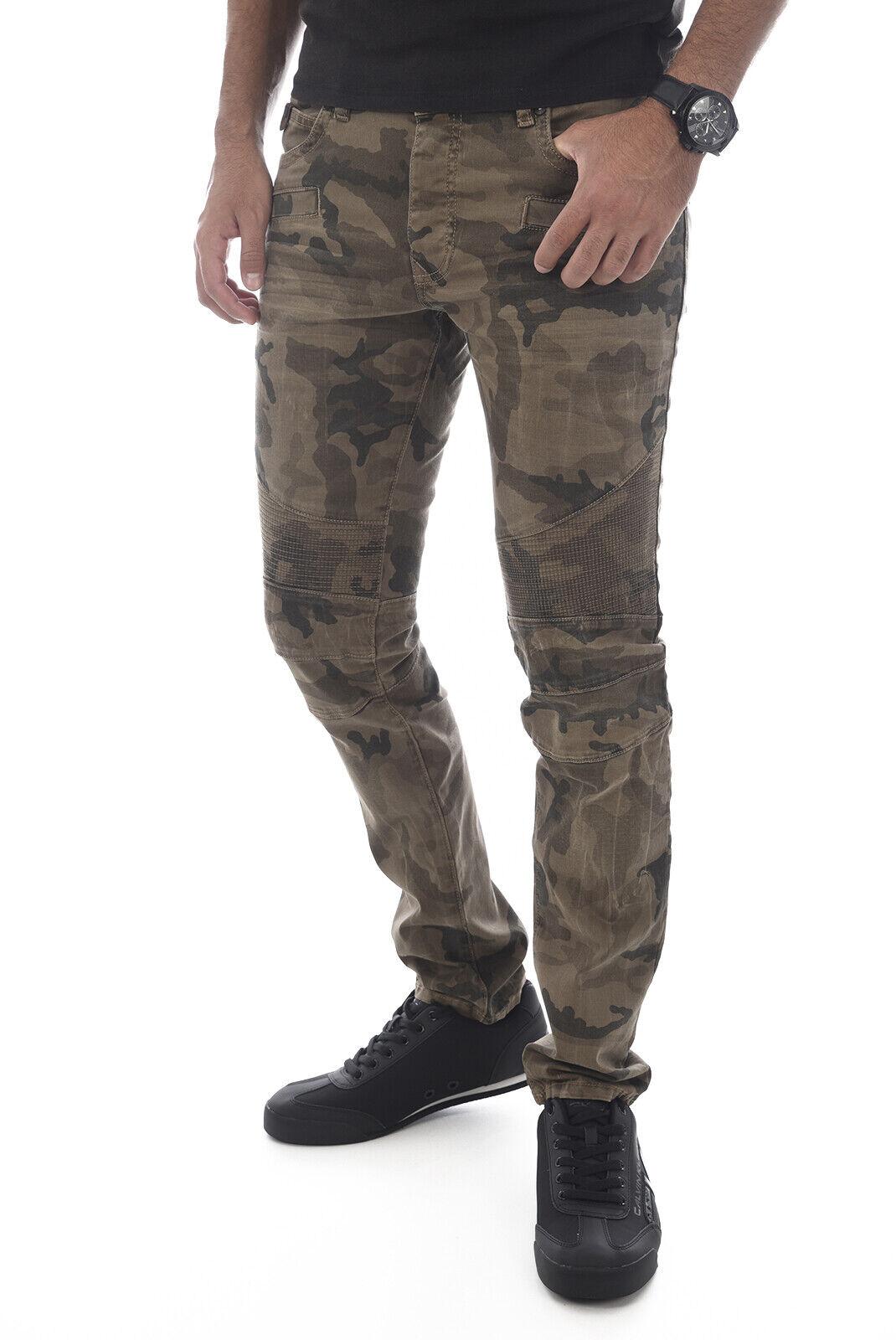 Kaporal Pantalones Camuflaje Corte Biker Corte Slim