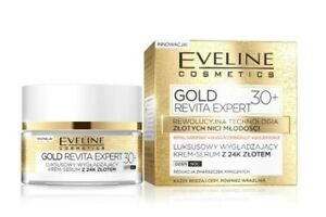 a00fc7fdc47 Image is loading EVELINE-COSMETICS-GOLD-REVITA-EXPERT-30-FACE-SMOOTHING-
