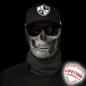 Salt armour sa tactical black skull face shield sun mask for Sa fishing face shield review
