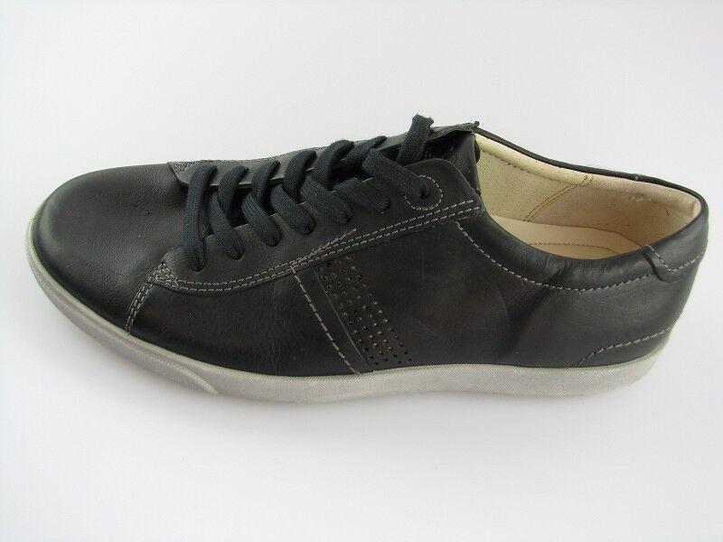 Casual salvaje Ecco zapatos caballero zapatillas negro cuero talla 41