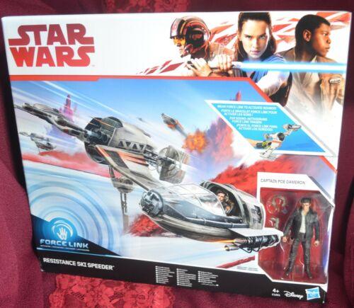 Star Wars Force Link Resistance Ski Speeder with Captain Poe Dameron