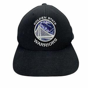 Golden State Warriors Hat Cap Mitchell & Ness NBA Black White Snapback CA Bay