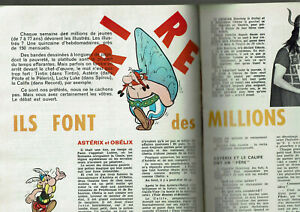 ARTICLE-SUR-LA-BANDE-DESSINEE-1963-4-PAGES-asterix-tintin-lucky-luke-clipping