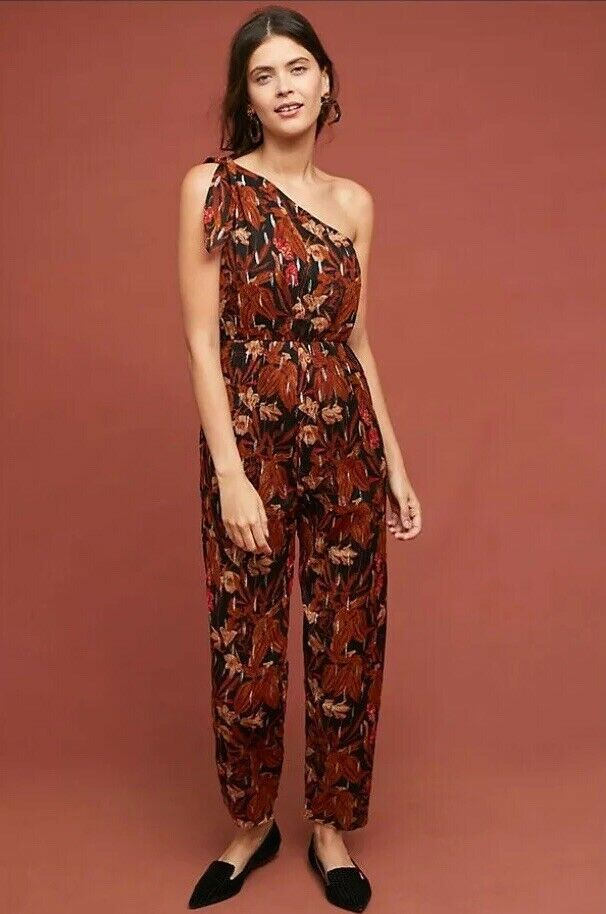 New Anthropologie Maeve Kyoto Floral Jumpsuit Size 0