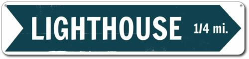 Lighthouse Sign Personalized Directional Arrow Mileage Sign ENSA1001741