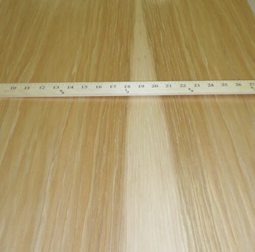 """Hickory Pecan wood veneer 24/"""" x 96/"""" with paper backer A grade 1//40/"""" thickness"""