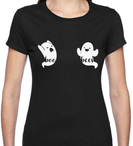 Boo Bees T-Shirt Funny Halloween Trick or Treat Ghost Rude Boobies Boobs