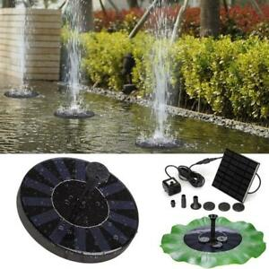 Image Is Loading Solar Ed Bird Bath Fountain Pump Free Standing