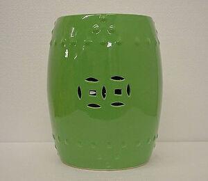 Light Green Porcelain Garden Stool Side End Table Stand | eBay
