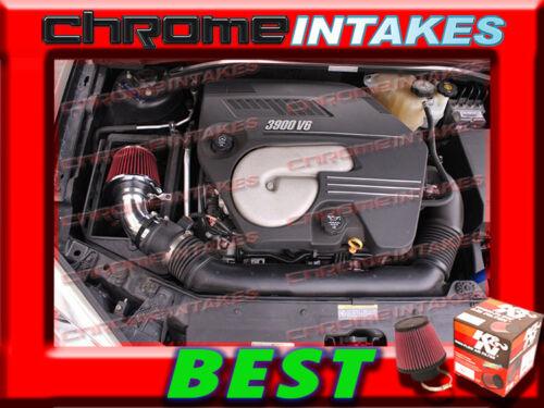 K/&N+BLACK RED 04 05 06-11 CHEVY MALIBU//PONTIAC G6 3.5L//3.6L//3.9L V6 AIR INTAKE S