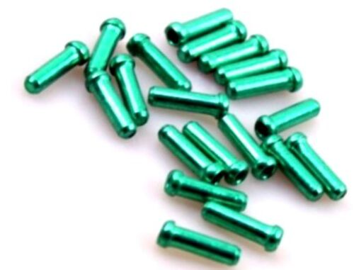 gobike88 Alligator 1.8mm green inner cable end cap 20 pieces per set 395