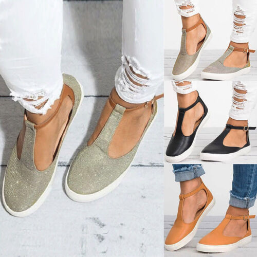 Damen Knöchelriemen Flach Sandalen Freizeit Espadrilles Schuhe Damenschuhe 36-43