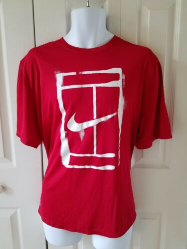 Nike Court Logo T-Shirt 543607-101 Nike Mens Tennis T-Shirt