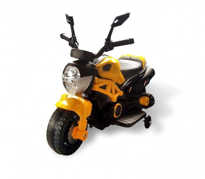 Bakaji Moto Motocicletta Modello Hunter Elettrica per Bambini 6V Giallo