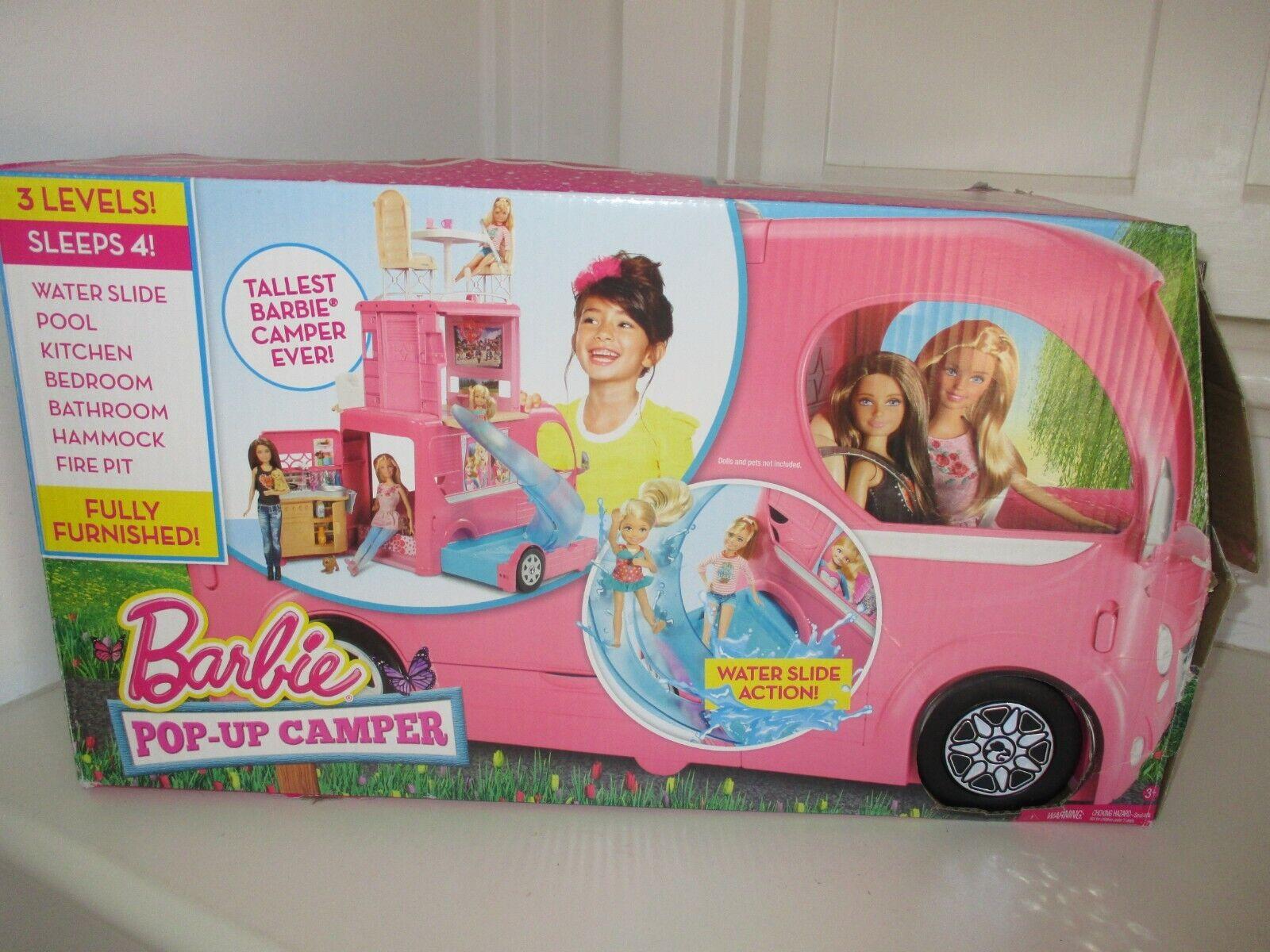 Barbie Pop-Up Camper - 3 Levels of Fun  Tallest Barbie Camper Ever
