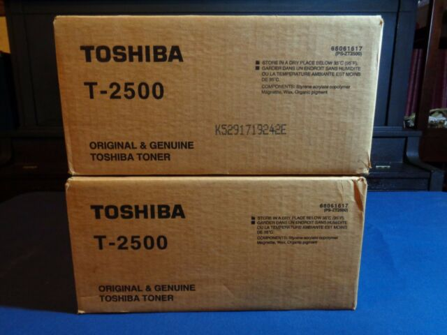 Genuine OEM Sealed Toshiba T-2500 Toner Cartridge 2 Boxes