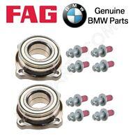 Bmw F01 F02 F06 F07 F10 F12 Pair Set Of 2 Rear Wheel Bearings & 8 Bolts Kit on sale