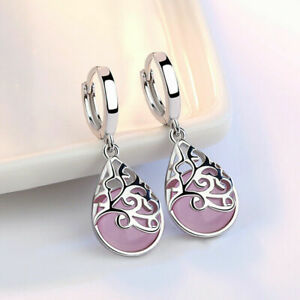 Gorgeous-925-Silver-Drop-Earrings-for-Women-Moonstone-Jewelry-A-Pair-set-New