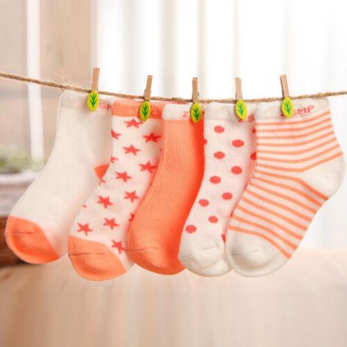Unisex Newborn Baby Socks Bulk Soft Cotton Toddler ankle Socks Crown 5color 0-6Y