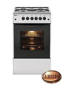 Cucina-a-Gas-con-4-Fuochi-BEKO-CSS42014FS-Silver-Forno-Elettrico-Fornello