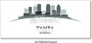 Tampa Florida City Art Print Canvas Print Poster Wall Art Home Decor Ebay