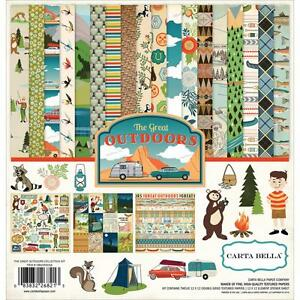 Great-Outdoors-Collection-12X12-Scrapbooking-Kit-Carta-Bella-Paper-CBGO55016-NEW