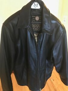 dd432a9e2 Details about Men's Marc New York Andrew Marc Black Soft Leather Jacket  Bomber in size Medium
