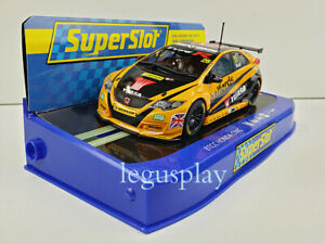 Slot-Car-Scalextric-superslot-H3861-Honda-Civic-Typ-R-25-Btcc-2016