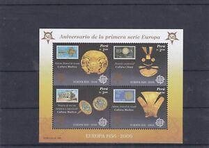 PEROU 2005 ANNIVERSAIRE DE LA PREMIERE SERIE EUROPA BF 30 NEUF **