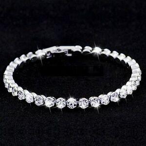 Armband-mit-Kristallen-besetzt-17cm-neu-Damen-Modeschmuck-glamour