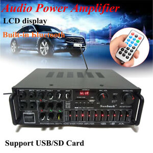 110V-2000W-326BT-Home-Power-Amplifier-2-Ch-bluetooth-AMP-Stereo-FM-Radio-USB-US