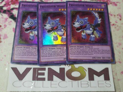 Super Rare - Frightfur Wolf FUEN-EN021 M//NM 1st Edition YuGiOh 3x